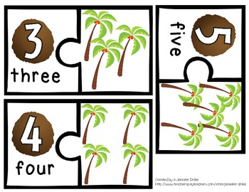 Coconut Tree Math Learning & Fun!  *~0-10~* Centers & Printables  *CC Aligned*