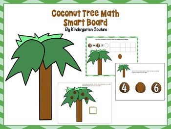 Coconut Tree Math Smart Board FREE