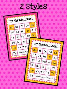 Coconut Tree: My Alphabet Chart FREEBIE!