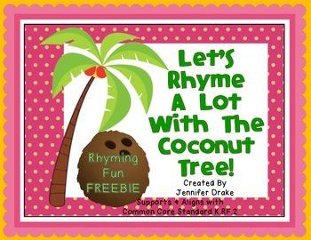 Coconut Tree Rhyming FREEBIE!!!  Center, Printable & Craftivity!