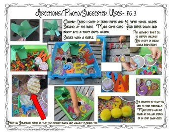Coconut Tree Sensory Table/Tub Alphabet & Number Activity Pack!