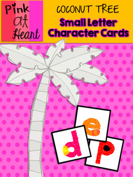 Coconut Tree: Small Letter Character Cards