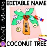 Cutting Practice | Scissor Skills | Coconut Tree Craft Edi