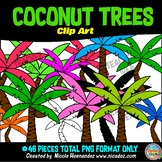 Coconuts Trees Clip Art for Teachers