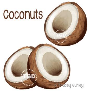 Coconuts - coconut clip art, coconut Printable Tracey Gurl