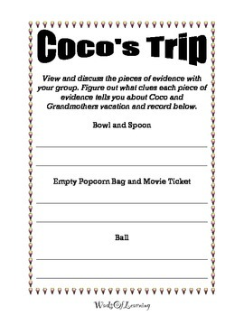 "Inferencing Activity ""Coco's Vacation"""