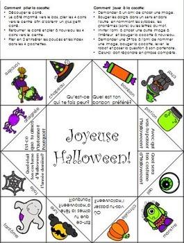 Halloween Cocotte en papier- Halloween Cootie Catcher French