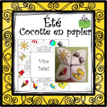 Été Cocotte en papier