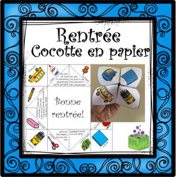 Rentrée Cocotte en papier