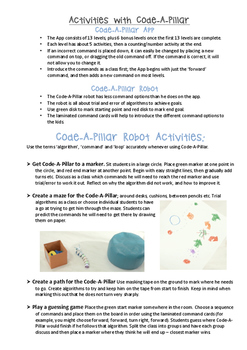 Code-A-Pillar Pack Coding Activities