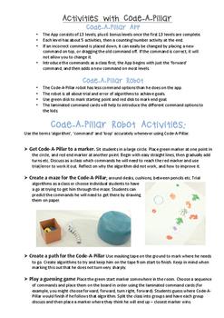 Code-A-Pillar Pack Coding Activities