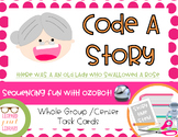 Code A Story- There Was an Old Lady Who Swallowed a Rose-