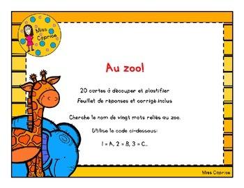 Code ABC: Au zoo!