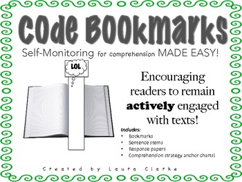 Comprehension Code Bookmarks: Self Monitoring MADE EASY!