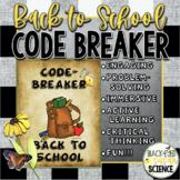 Code-Breaker Back to School (aka. Growth Mindset Escape Room)