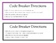 Weekly Challenge: Code Breaker Bulletin Board FREEBIE!