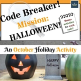 Code Breaker! - Mission: Halloween! An October Holiday Activity