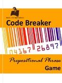Code Breaker: Prepositional Phrase Practice Game