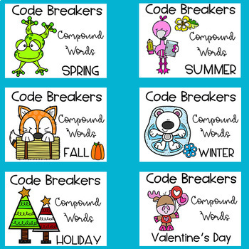 Teachers Paying Teachers - Seasons and Holiday Code Breakers Compound Words