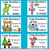 Code Breakers Compound Words Printable Activities - 10 Themes