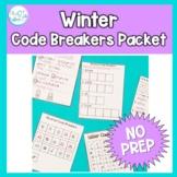 Code Breakers Worksheets: Winter theme, NO PREP