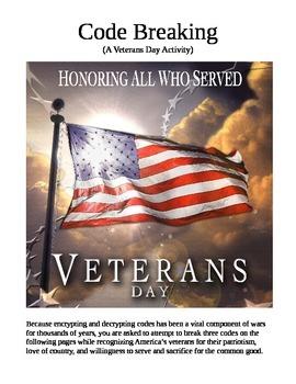 Code Breaking - A Veterans Day Activity