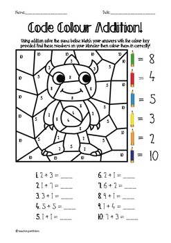 Code Colour Addition - Maths!