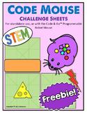 Freebie! STEM Code & Go Robot Mouse Coding Challenge