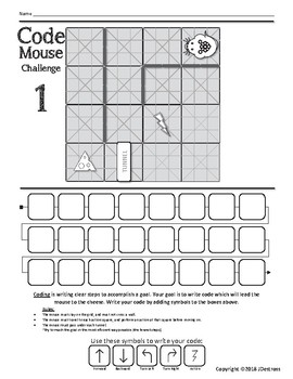 Freebie! STEM Code & Go Robot Mouse Coding Challenge