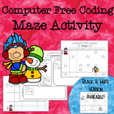 Code Maze for Computer Free Coding {Hour of Code Maze Activity}