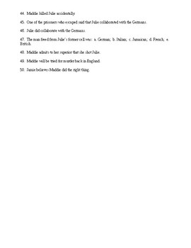 Code Named Verity Reading Check Test/Quiz