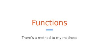 Python Code 06: Functions