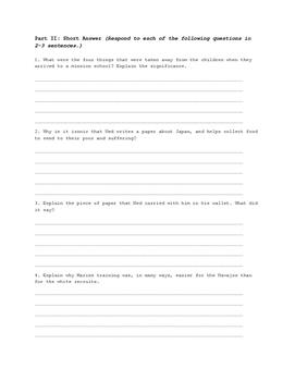 Code Talker: Chapters 1-15 Quiz