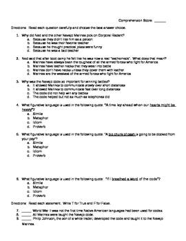 Code Talker Chapters 11-12 Quiz