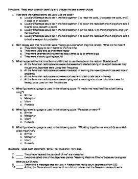 Code Talker Chapters 13-14 Quiz