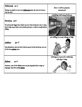 Code Talker Chapters 3-4 Vocabulary Flash Cards with Pictures