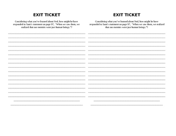 Code Talkers Point of View Writing/Exit Slip