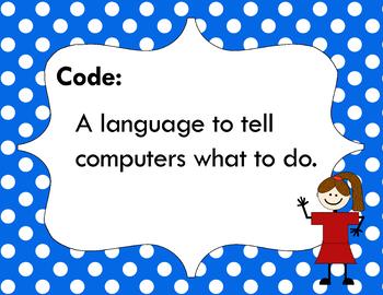 Code Vocabulary Card