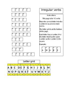 Code Words Irregular Verbs