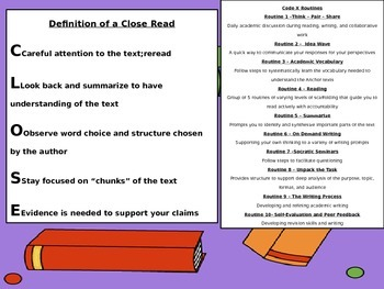 Code X Close Reading Guide