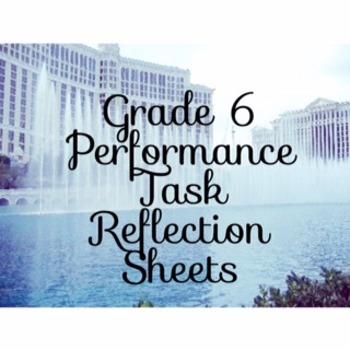 Code X Grade 6 Performance Task Reflection Sheets