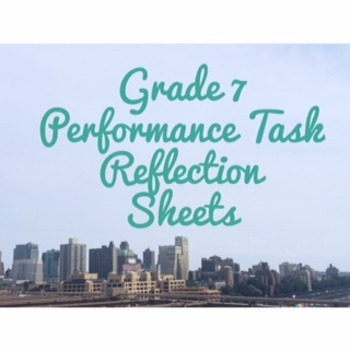 Code X Grade 7 Performance Task Reflection Sheets