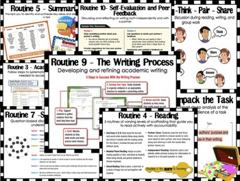 Code X Close Reading Instructional Routine Posters