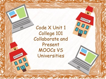 Code X Unit 1 Collaborate and Present Graphic Organizers and Cards