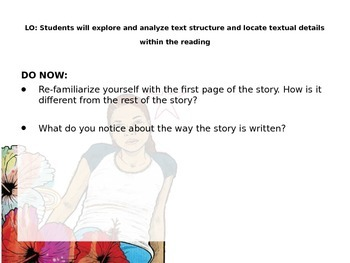 Code X Unit 1 Grade 7, Call Me Maria, Read 2.2 , Narrative Structure, POV etc