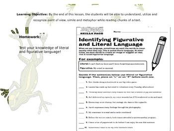 Code X Unit 1 Grade 7, Call Me Maria, Read 2.1 , Similes and Metaphors