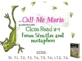 Code X Unit 1 Grade 7, Call Me Maria, Read 2.1 , Similes and Metaphors