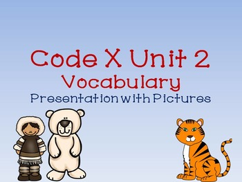 Code X Unit 2 Vocabulary with Pictures