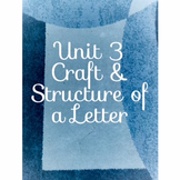 Code X Unit 3 Zebra; Craft and Structure; Structure  of a Letter