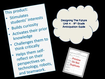 Code X Unit 4 Designing The Future Anticipation Guide